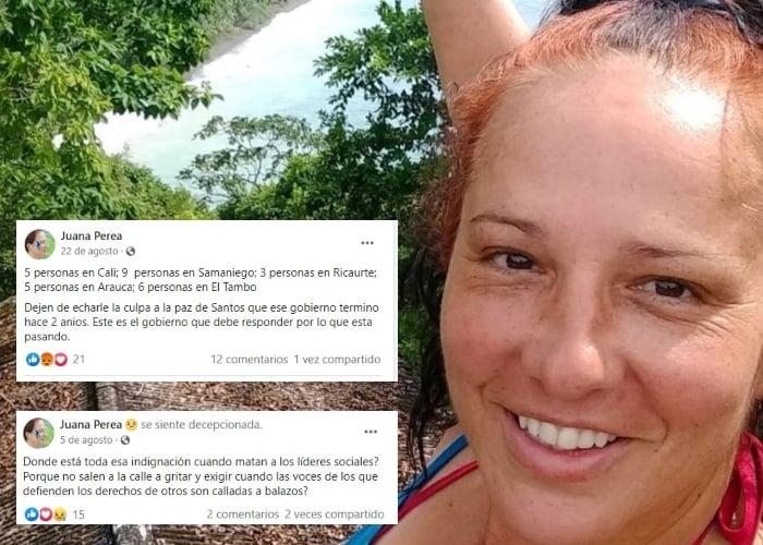 El activismo en redes sociales de Juana Perea, líder asesinada en Nuquí