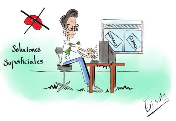 Caricatura: Soluciones superficiales
