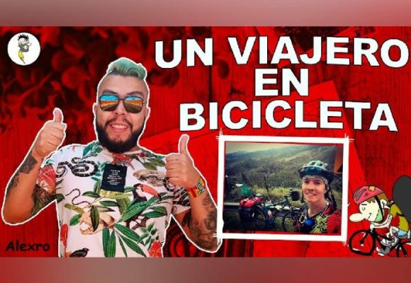 VIDEO: Un viajero en bicicleta