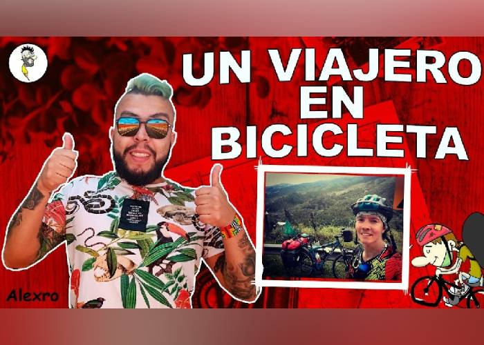 VIDEO: Un viajero en bicicleta