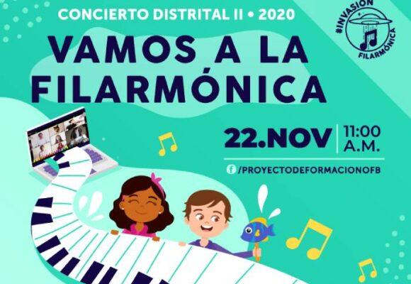 Viene el II Concierto Distrital Virtual Vamos a la Filarmónica 2020