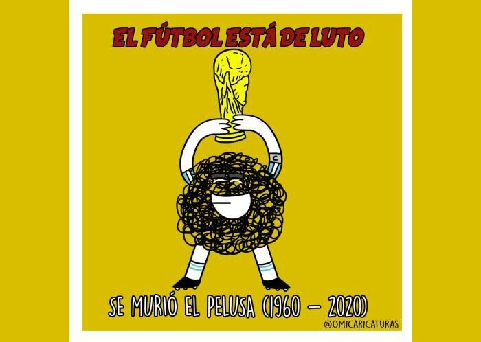 Caricatura: El fútbol está de luto
