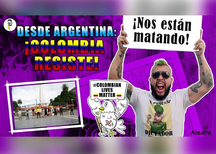 VIDEO: Desde Argentina, ¡Colombia resiste!