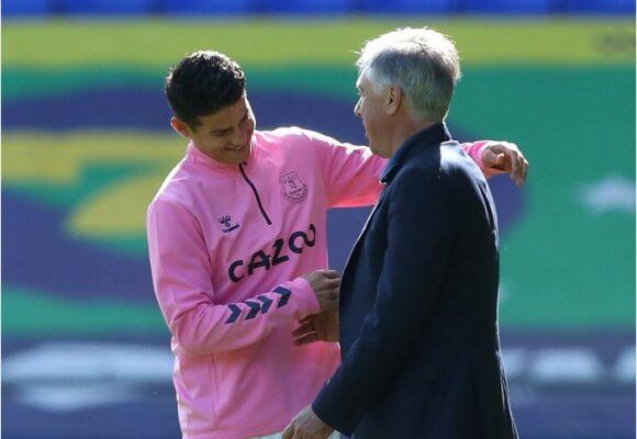 Nada destruye el amor de Ancelotti por James