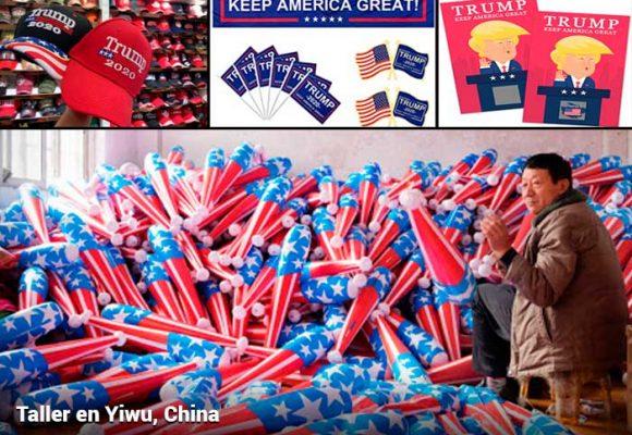 Manos chinas detrás de la propaganda electoral de Trump