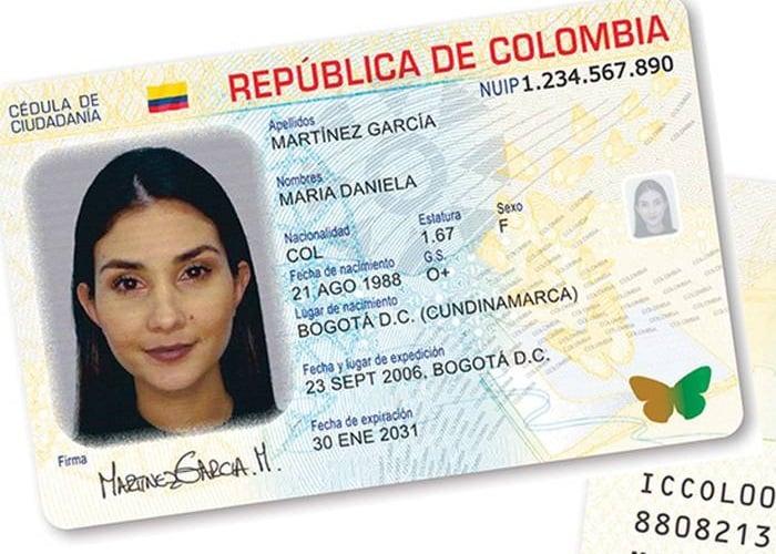 Colombia estrena cédula