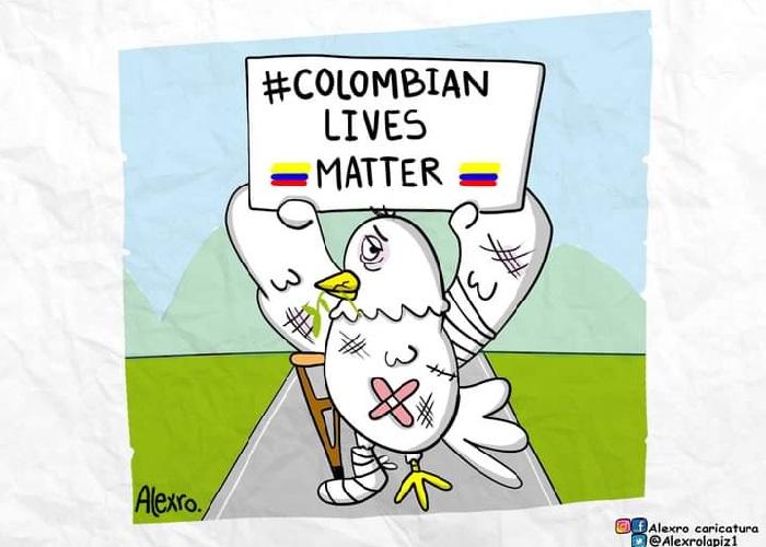 Caricatura: ¡Las vidas colombianas importan!