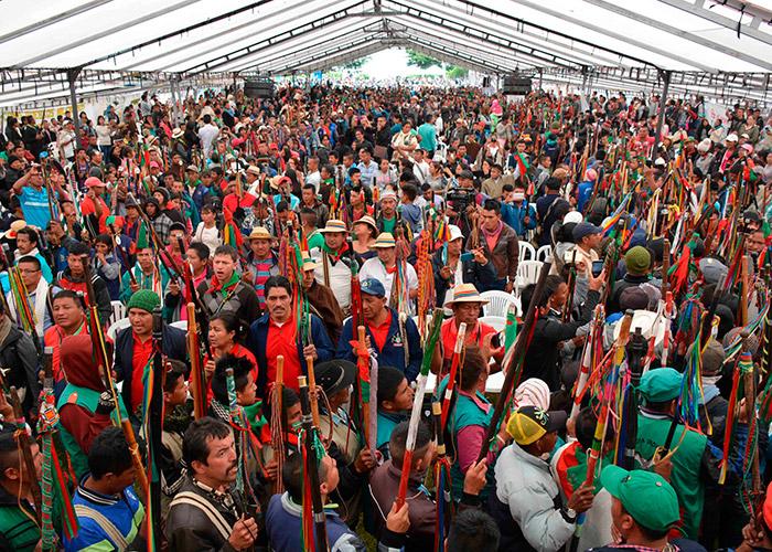 XV Congreso del CRIC en Rioblanco, Sotará, donde participaron 20 mil personas de los pueblos indígenas del Cauca. Foto: CRIC