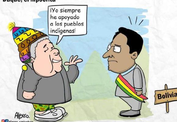 Caricatura: Duque, el hipócrita