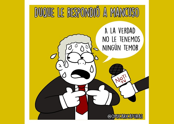Caricatura: La respuesta de Duque a Mancuso