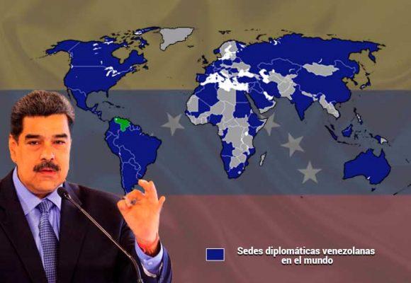 Las 90 sedes diplomáticas de Maduro en el mundo