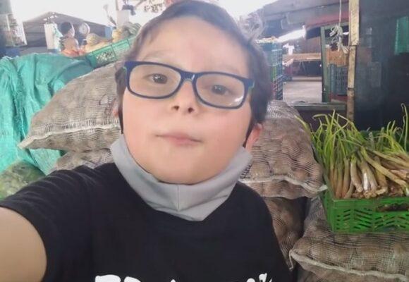 La contundente invitación de un niño activista a comprarle papa a los campesinos