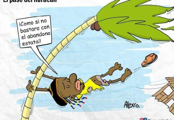Caricatura: El paso del huracán