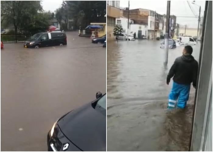 VIDEO: Inundaciones tras torrencial aguacero en Bogotá