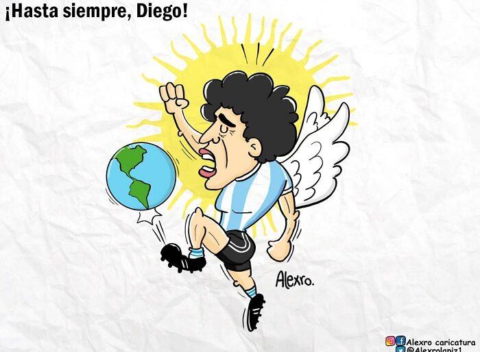 Caricatura: ¡Hasta siempre, Diego!