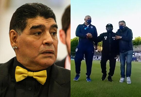 El último video de Maradona en las canchas antes de su muerte