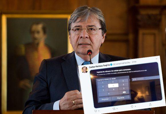 El Mindefensa, Carlos Holmes Trujillo, publicó información privada por error en Twitter