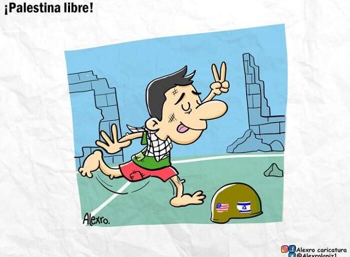 Caricatura: ¡Palestina libre!