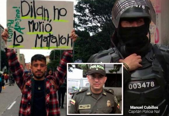 El capitán Manuel Cubillos que mató a Dilan Cruz sigue tranquilo en la Policía