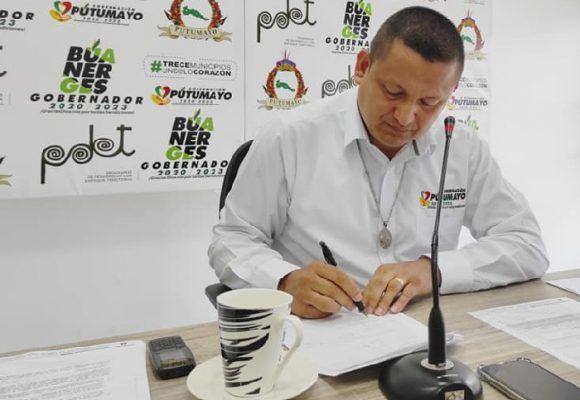 El contrato por el que pidieron la captura del gobernador de Putumayo
