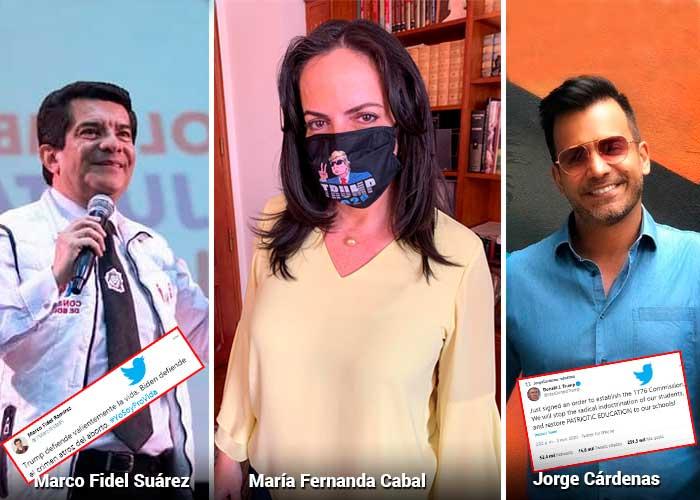 Los trumpistas colombianos que más bulla hacen en Twitter