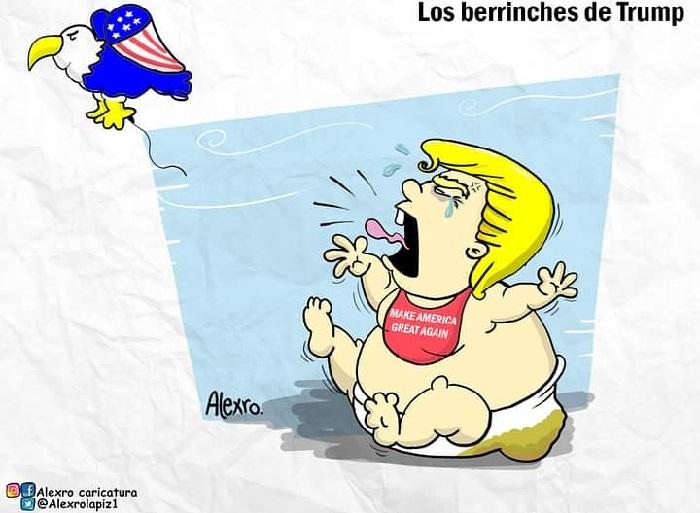 Caricatura: Los berrinches de Trump