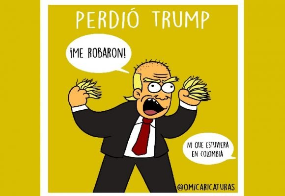 Caricatura: ¡Ups, perdió Trump!