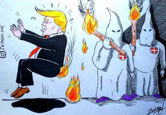 Caricatura: La quemada de Trump