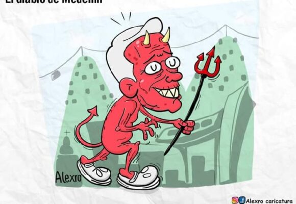 Caricatura: El diablo de Medellín
