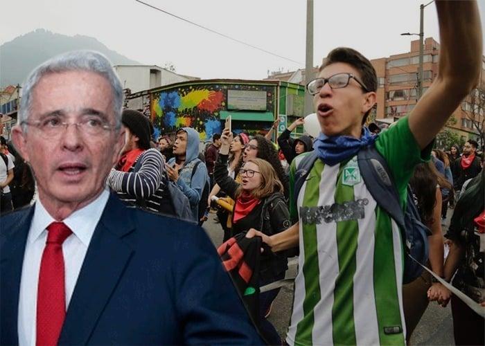 Irresponsableme señalamiento de Uribe a jóvenes que salieron a protestar