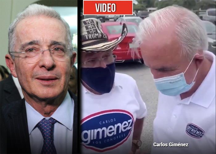 La llamada de Uribe al republicano Carlos Gimenez, que ganó en Florida