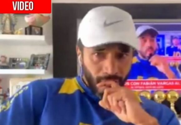 La sobreactuada de Fabián Vargas con la muerte de Maradona