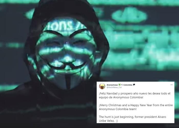 ¿Anonymous amenaza con volver a hackear a Álvaro Uribe?