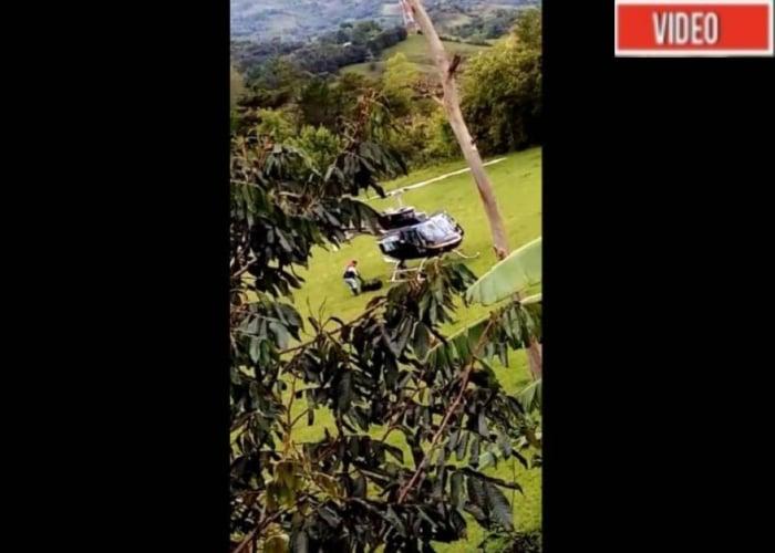 VIDEO: Atraco de película a un helicóptero en el Cauca