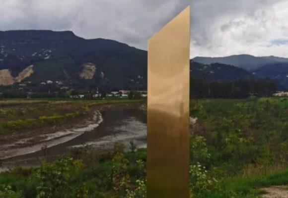 El supuesto monolito que apareció en Chía, Cundinamarca