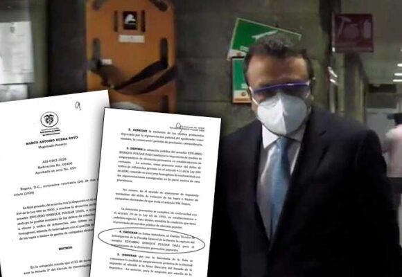 Las razones de la Corte para que el senador Eduardo Pulgar esté en La Picota