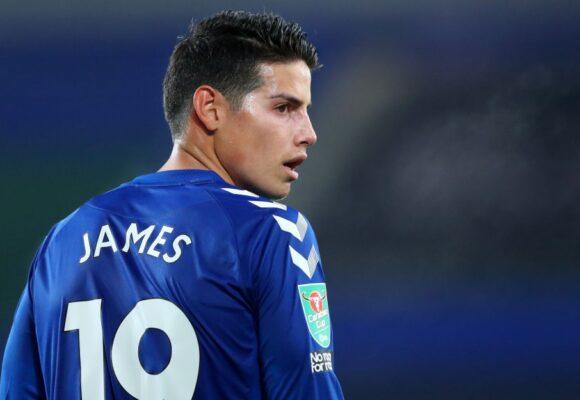 La decepción de los hinchas del Everton con James