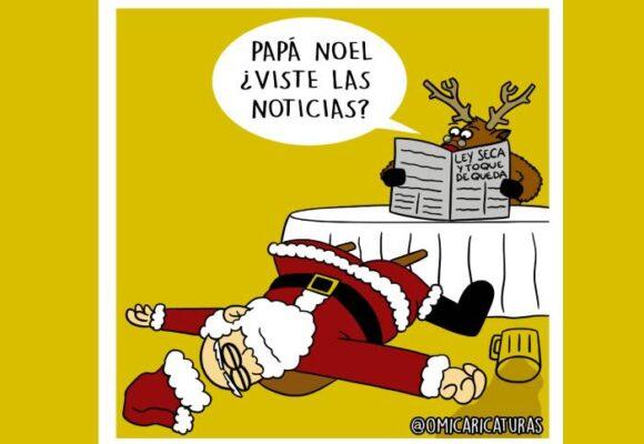 Caricatura: Papá Noel, ¿viste las noticias?
