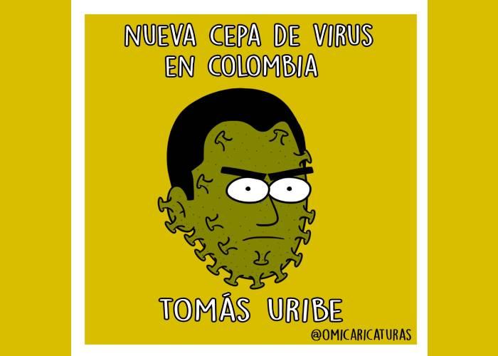 Caricatura: Nueva cepa del virus en Colombia