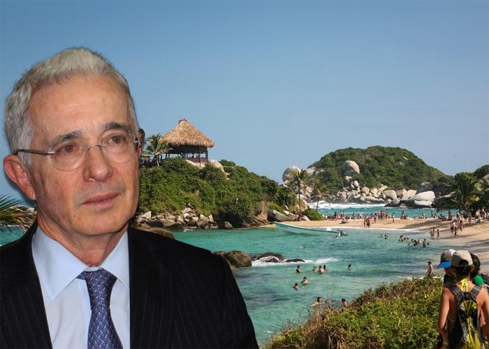 El gran sueño de Uribe es convertir el Tayrona en un complejo hotelero