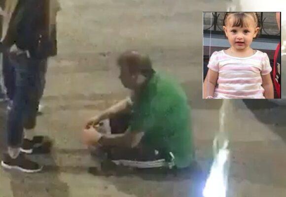 VIDEO: Con sangre en sus manos revelan imágenes de asesino tras matar a Sofía, su propia hija
