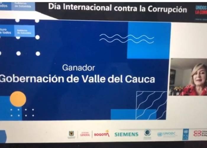 'Mi Valle Transparente' la Gobernación ganó el concurso de la Presidencia