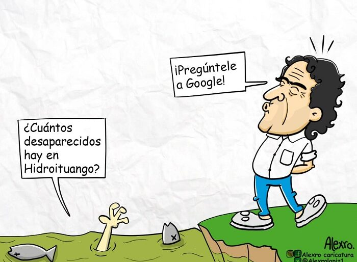 Caricatura: Fajardo e Hidroituango