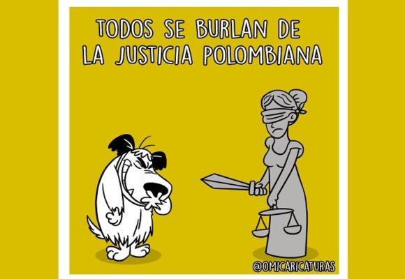 Caricatura: ¿Es la justicia colombiana un chiste?