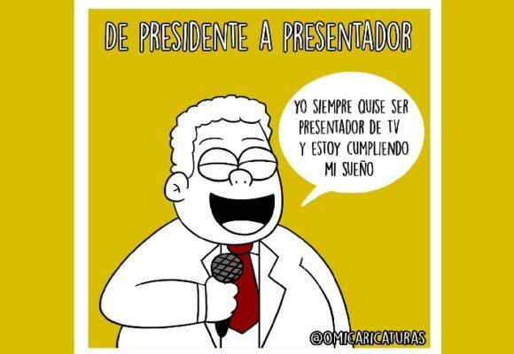 Caricatura: De presidente a presentador