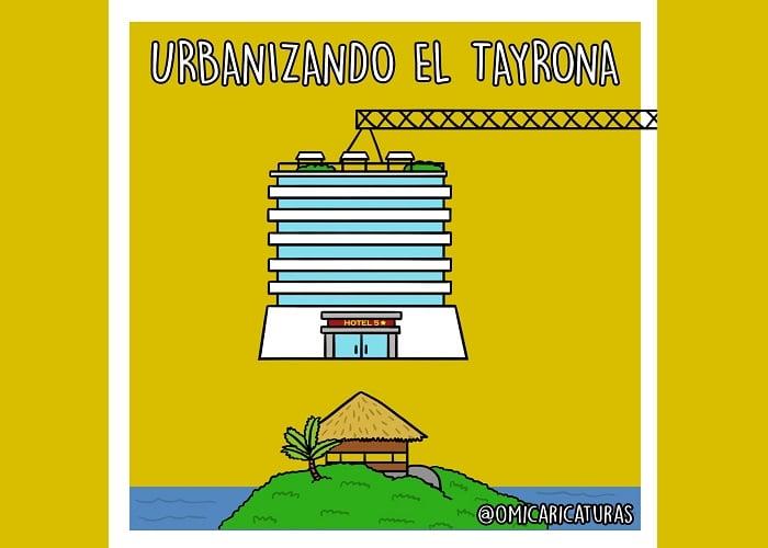 Caricatura: ¡El Tayrona no se toca!