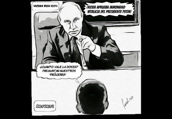 Caricatura: La vacuna soñada por nuestros