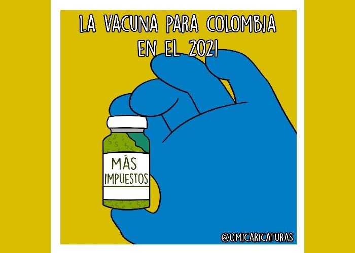 Caricatura: La vacuna que tendrá Colombia en el 2021