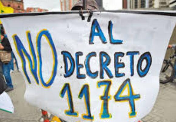 Resistencia ante la aplicación del decreto 1174 de 2020