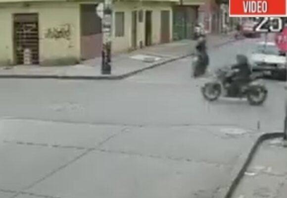 VIDEO: La torpeza de dos ladrones en Bogotá